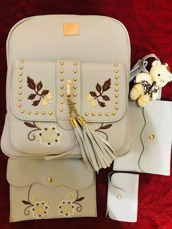 Крутой женский набор (рюкзак+сумка+клатч)