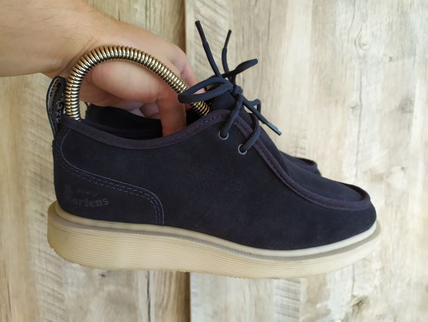 Замшевые туфли кроссовки ботинки dr. martens leverton