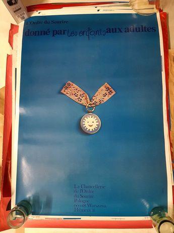 Plakat Order Uśmiechu Maciej Urbaniec Kolekcja PRL Francuski