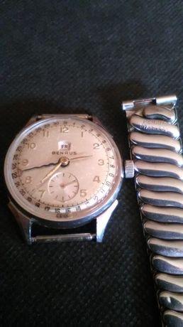 Zegarek Benrus Day Date Vintage nie srebra-srebro Rarytas.