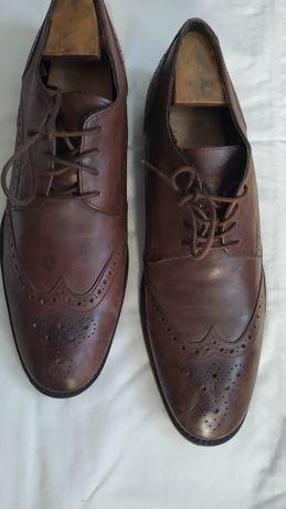 Мужские туфли кожаные коричневые