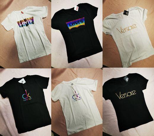 Koszulki Damskie Levis Versace Calvin Klein CK bluzki koszulka nowe