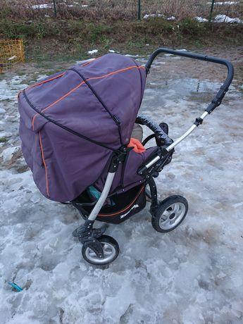 Podwójny wózek gondola+spacerówka