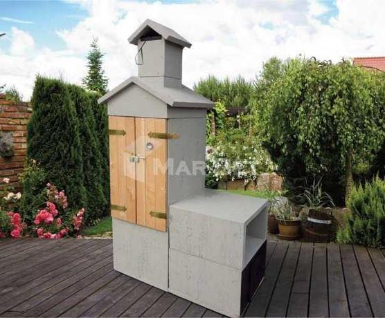 HS wędzarnia betonowa, grill betonowy, grillo-wędzarnia