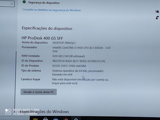 HP desktop 400 g5