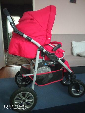 """Wózek spacerowy  KRASNAL """"WIKING"""" dla dziewczynki"""