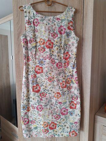 Sukienka w kwiaty Top Secret wesele r.40 na podszewce