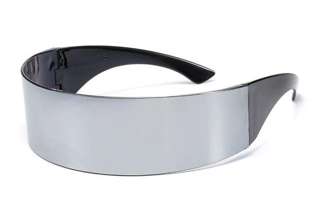 Футуристические солнцезащитные очки для мужчин, женщин черные, серебро