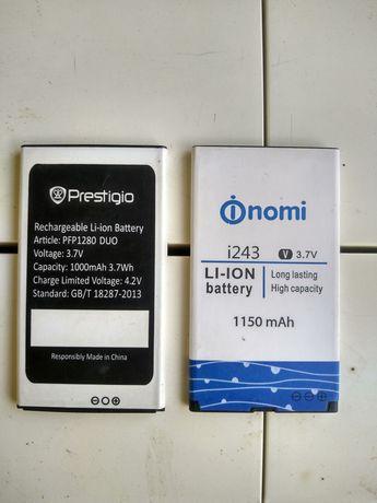 Батареї до телефонів , Prestigio, та inomi i243.