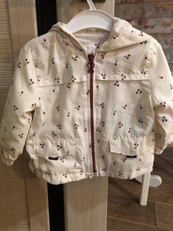 Zara ветровка легкая куртка 9-12