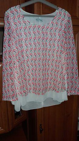 Блузка з фламінго розмір L