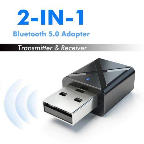 Адаптер Bluetooth 5 аудио приемник передатчик 2в1 ресивер трансмиттер