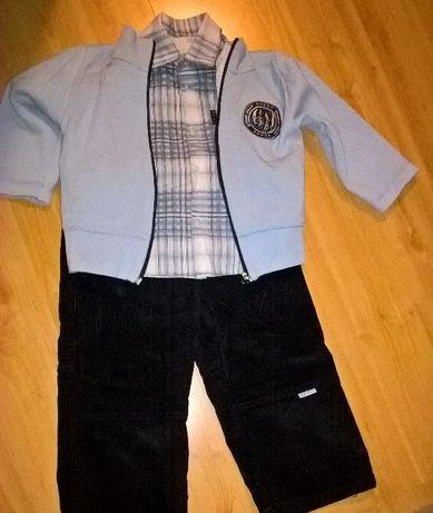 Koszula+spodnie+swetr komplet dla chłopca