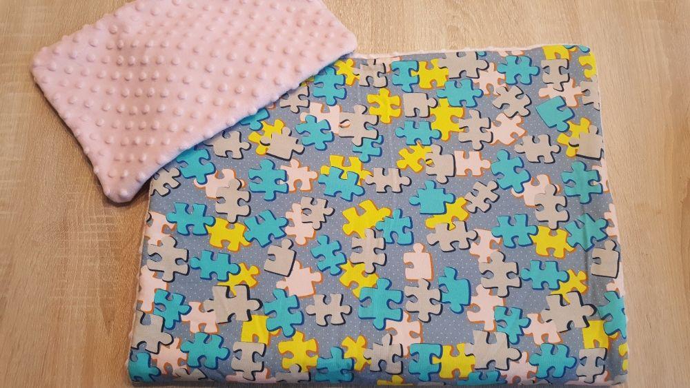 Kocyk Minky 50x75 z poduszką 4 wzory Częstochowa - image 1