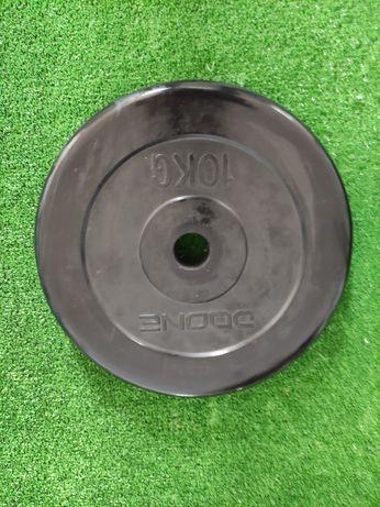 Discos de musculação de borracha 10kg