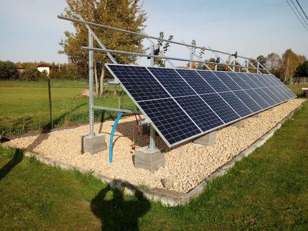 Konstrukcja PV fotowoltaika na grunt 26 szt paneli