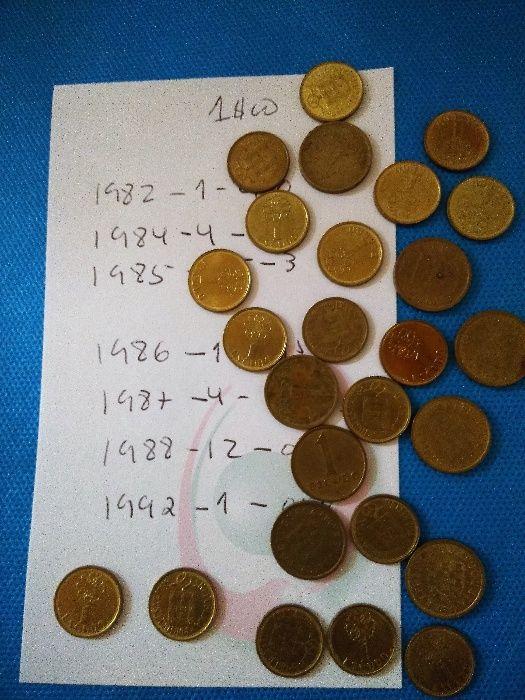 Conjunto de 26 moedas antigas de 1$00