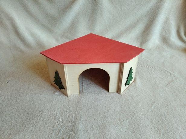NOWY Domek drewniany dla chomika szczura myszy lub innego gryzonia