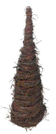 Choinka z brzozy, stożek, dekoracja świąteczna, h 60 cm