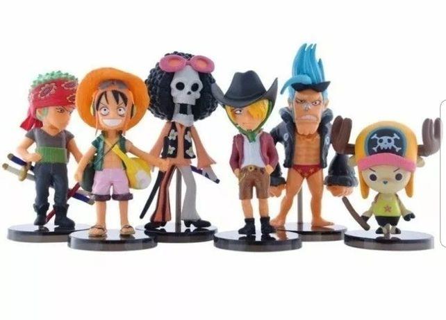 6 Pcs One Piece Topo de Bolo (Portes Incluídos)