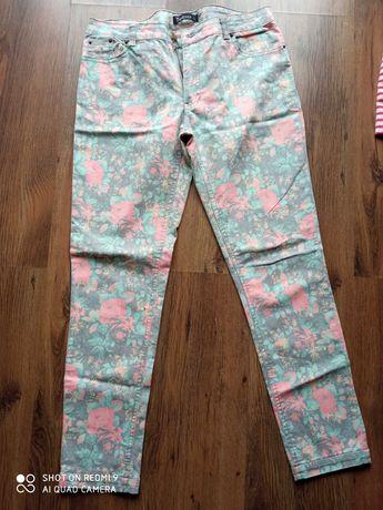 spodnie kwiaty L