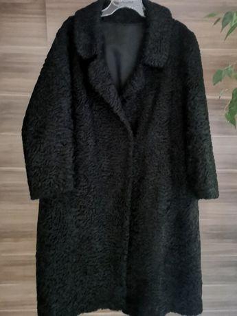 futro z karakułów swakara r.xl / xxl czarne