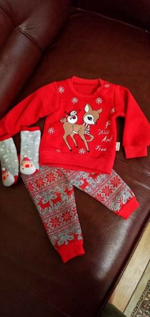 Святковий дитячий трикотажний комплект на 5-6 місяців.
