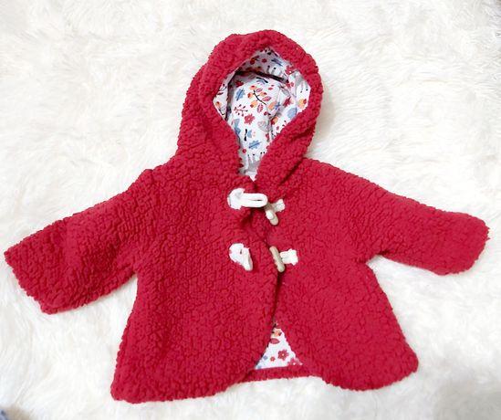 Plaszczyk/kurtka dla dziewczynki rozm 56 newborn