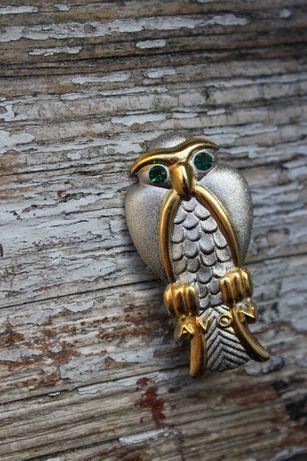 Вінтажна брошка-сова від Avon в стилі арт-деко