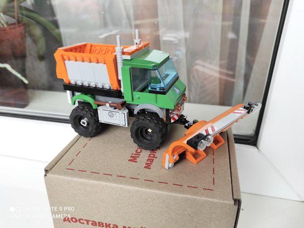 Лего Сити Оригинал Снегоуборочный грузовик арт.60083