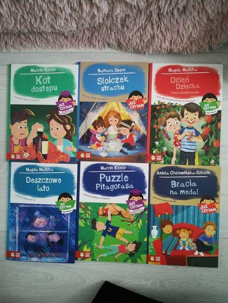 6szt Bajki książki dla dzieci pierwsze czytanki czytam sam