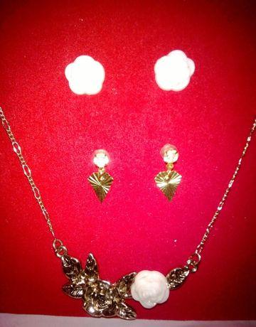 Komplet zestaw wytwornej biżuterii