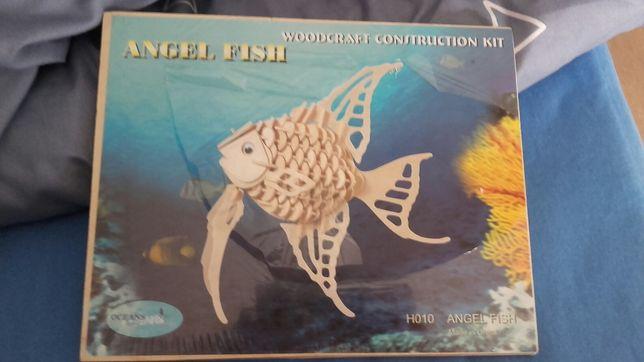 Puzzle Woodcraft Construction Kit NOWE Angel Fish DARMOWA WYSYŁKA