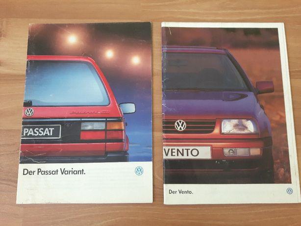 Prospekt katalog VW Vento, Passat Variant. Język niemiecki