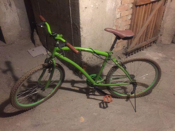 Rower męski zielony stylowy retro miejski vintage