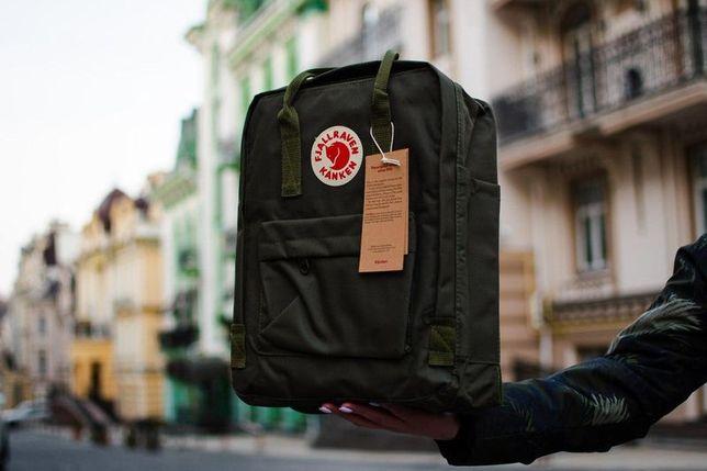 Fjallraven kanken Classic рюкзак с лисой Фьялравен Канкен Хаки