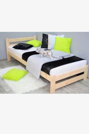 P Łóżko 90x200 drewniane z materacem pojedyncze.Od ręki