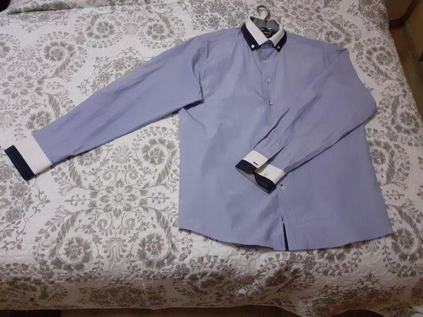Wyprzedaż szafy! - koszule męskie długi rękaw rozmiar 39/ 40.