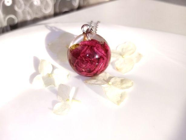 Кулон с розой, кулон з трояндою, сфера