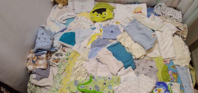 Пакет фирменных 55 вещей на новорожденног мальчика. От рождения до го
