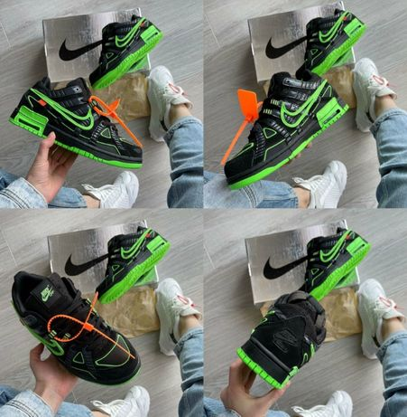 Мужские кроссовки Nike Air Rubber Dunk Off-White Green 40-45 Наложка!