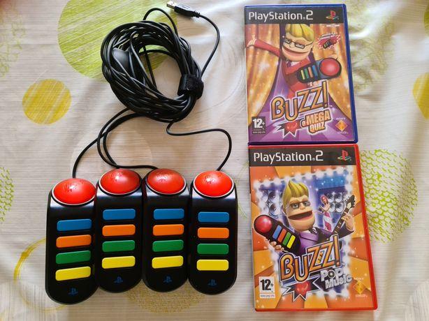 Sets Buzz + Jogos para PlayStation 2 PS2
