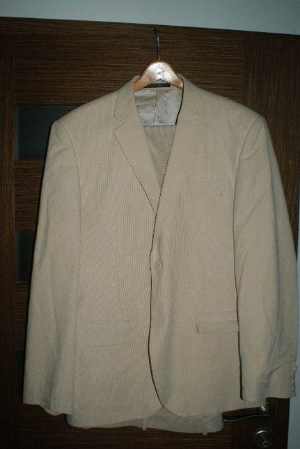 marynarka + spodnie jasny beż Reserved rozmiar 54 92/182