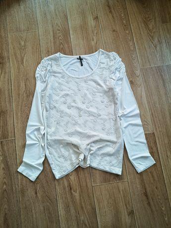 Кофта блуза кремовая сетка