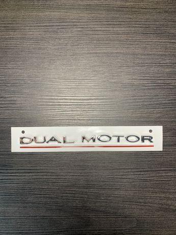 Эмблема на tesla model 3/S/Y/X (dual motor performance)