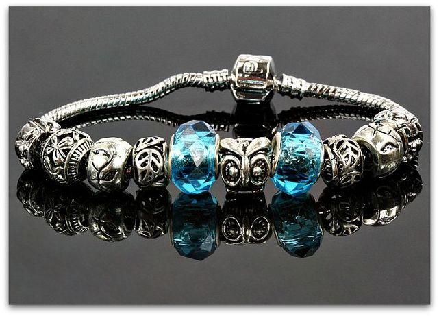 Pandora Bransoletka Niebieskie Moduły