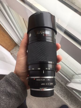 """Sony Minolta 70-210mm f4 AF """"Beercan"""" (Objectiva A-mount)"""
