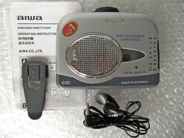 Кассетный плеер AIWA JS -195, FM\АМ приемник, новый