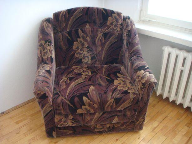 welurowy rozkładany fotel / amerykanka / łóżko - jak nowy