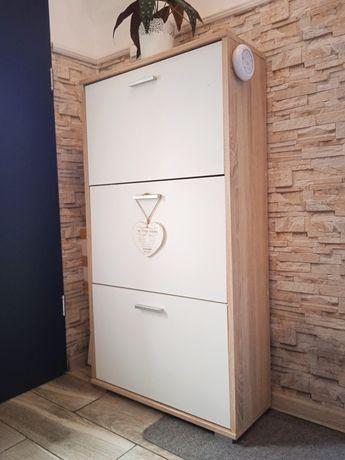 Biała szafka do przedpokoju na buty biel Sonoma wąska garderoba szafa